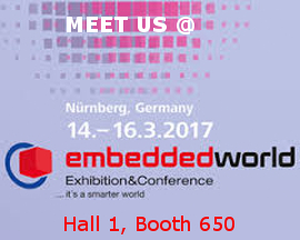 Meet us at embedded world 2017